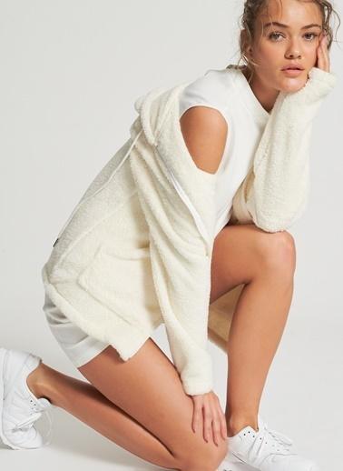 Pi π Dik Yaka Detaylı Elbise Beyaz